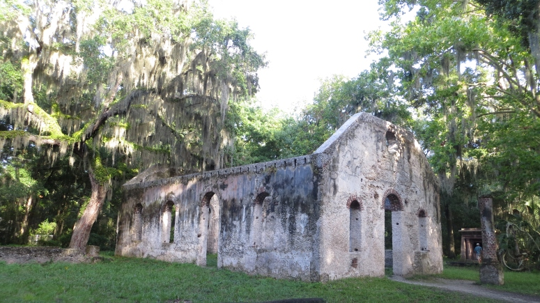Chapel of Ease; built in 1740, burned by forest fire in 1886