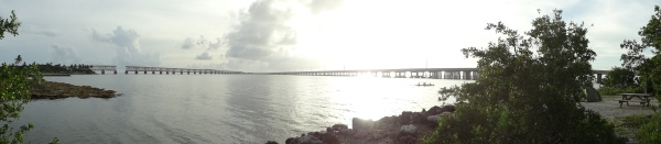 The view from our site at Bahia Honda