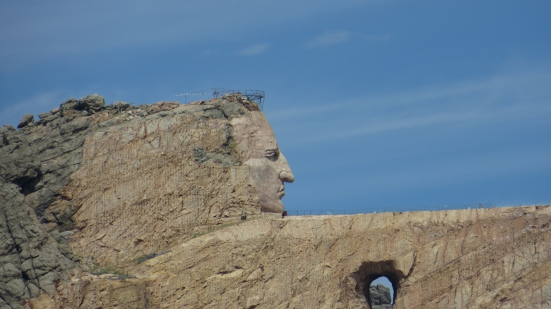 Crazy Horse 2013 Seen from our camp road in the morning!  (Super zoom, obvi)