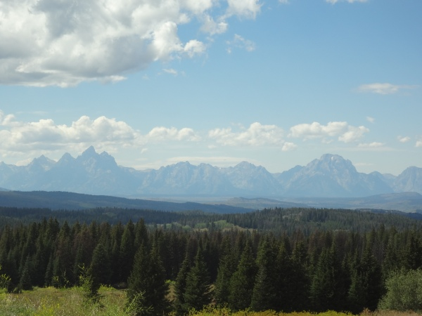 I didn't seem to take any pictures of the Tetons, maybe this is them